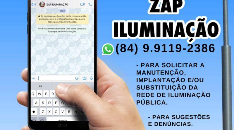 Prefeitura disponibiliza o Zap Iluminação
