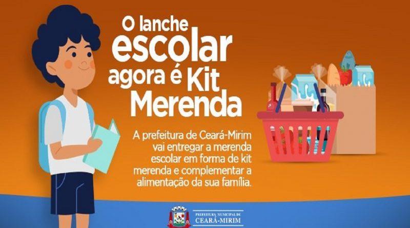 Ceará-Mirim segue entregando kits da merenda escolar aos alunos da Rede Municipal de Ensino